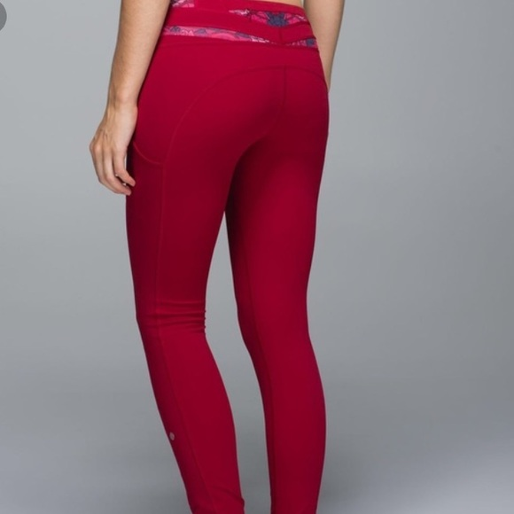 31b4d429be lululemon athletica Pants | Lululemon Speed Tight Cranberry Red Rose ...